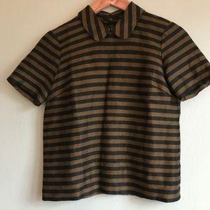 [Madewell] black and brown short sleeve top